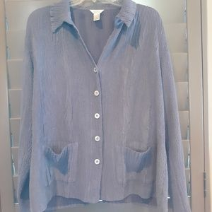 Christopher & Banks, jacket shirt, purple, size XL